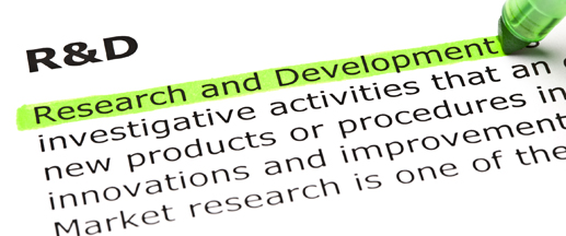 'Research and Development' highlighted in green
