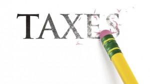 Taxes erased